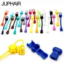 JUP 1 Pair Round Colored Shoe Laces Men Women Children Fashion Elastic Rubber Adjustable Shoelaces Lazy Shoelace Strings