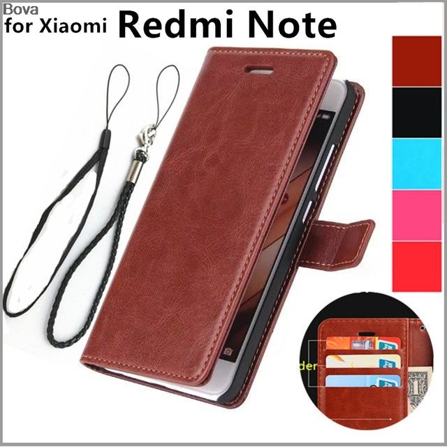 best loved dfc9b 74bc9 US $4.74 5% OFF|Xiaomi HM Note card holder cover case for Xiaomi Redmi Note  1 LTE 4G leather phone case ultra thin wallet flip cover-in Wallet Cases ...