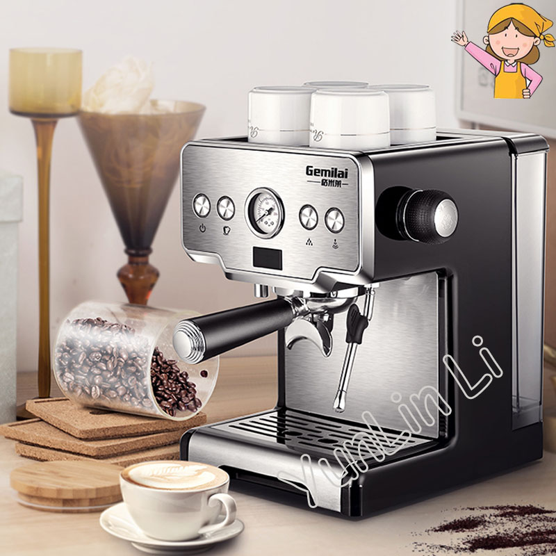 Commercial Italian Coffee Maker 15bar Stainless Steel Semi Automatic Machine Steam Grilled Crm3605