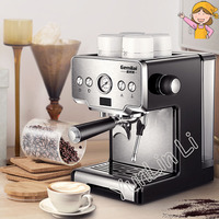 Commercial Italian Coffee Maker 15bar Stainless Steel Semi automatic Coffee Machine Steam Grilled Coffee Maker CRM3605