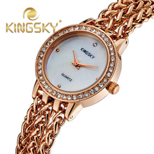 2015 luxury brand женщины платье часы женщины горный хрусталь часы из розового золота стали женские часы dimaond наручные часы браслет