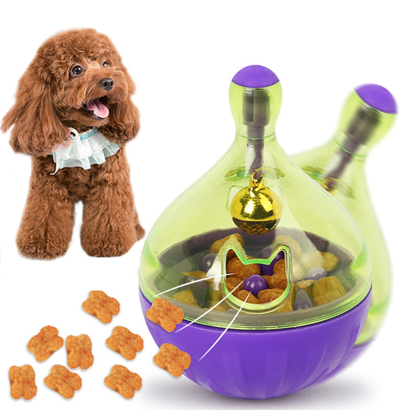 Dog Cat Food Treats Ball Bowl Toy Funny Pet Shaking Leakage Food Container Puppy Cat Feeder Pet Playing Toys