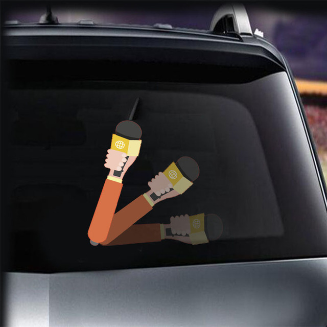 Tancredy cartoon interview car rear window wiper sticker removable 3d stickers moving wiper car styling