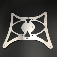 1pcs aluminum light weight Y carriage for Creality CR 10 3D printer Ultimate light heated support base plate