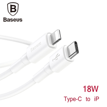 Baseus 18W USB Cable Type C To iP Port For iPhone Samsung Xiaomi PD Fast Charging USB-C Charger Mobile Phone Type-C