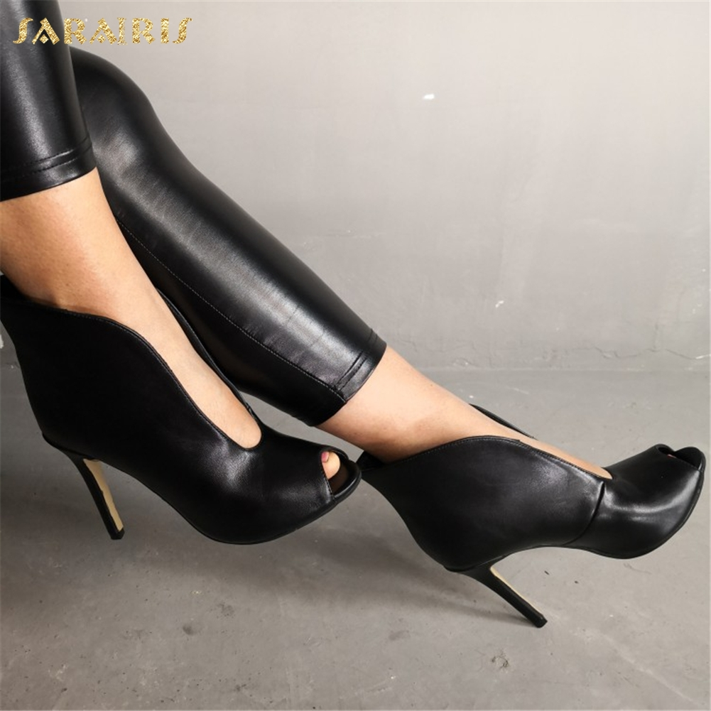 SARAIRIS Sexy Peep Toe Summer Boots Plus Size 47 Party Sandals Women Shoes Fashion Elegant Thin High Heels Shoes Woman