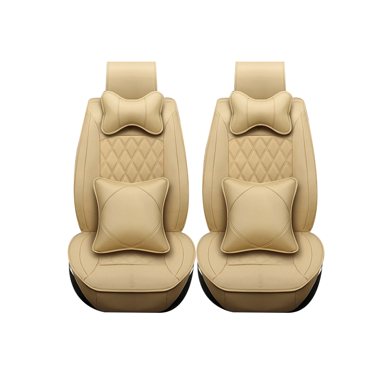 Special leather only 2 front car seat covers For Cadillac SLS ATSL CTS XTS SRX CT6 ATS Escalade auto accessories car styling