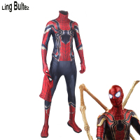 Ling Bultez High Quality 2017 Iron Spiderman Costume Spiderman Homecoming Cosplay Costume Tom Holland Iron Spider