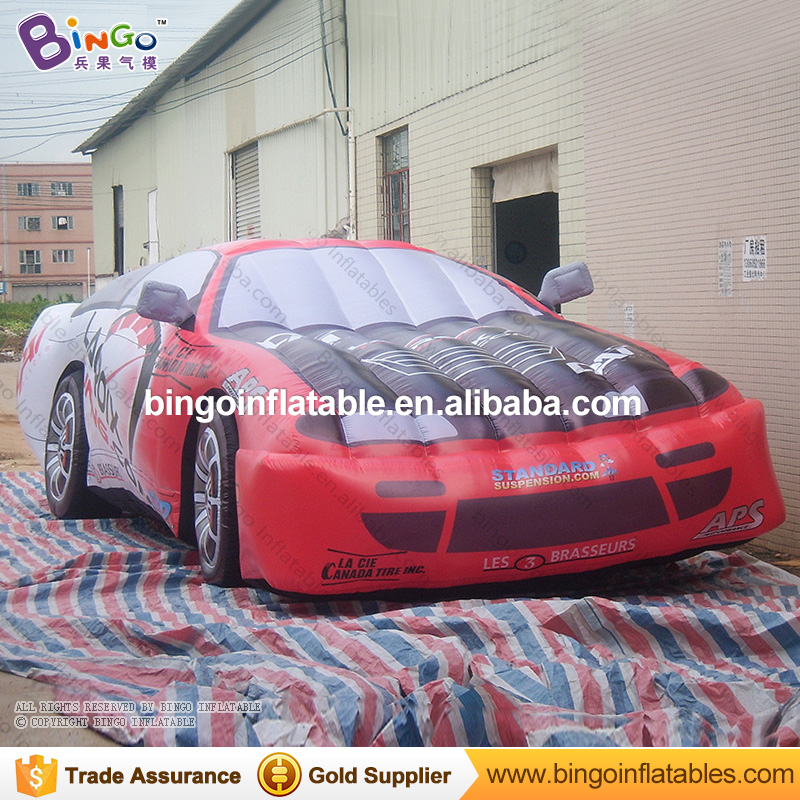 Vivid 8 meters inflatable roadster model for show customized inflatable racing car replica for decoration advertising toy car