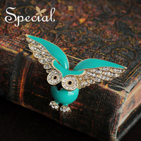 Special New Fashion Enamel Brooches Pins Lovely Owl Brooch Bouquet Handmade Christmas Jewelry Gifts For Women