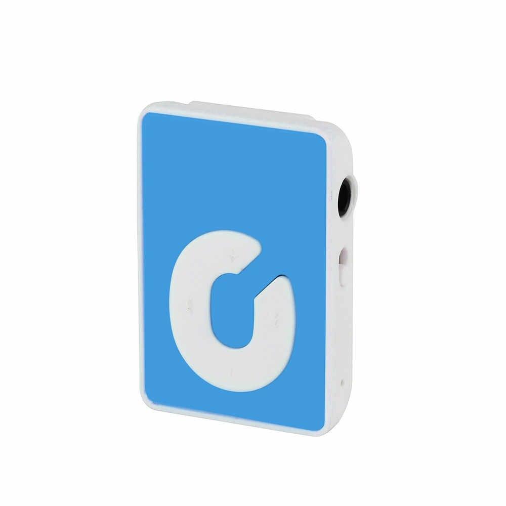 Clip USB Mini Mp3 reproductor multimedia de música compatible con tarjeta Micro TF de 32 GB y Headset7.4gh