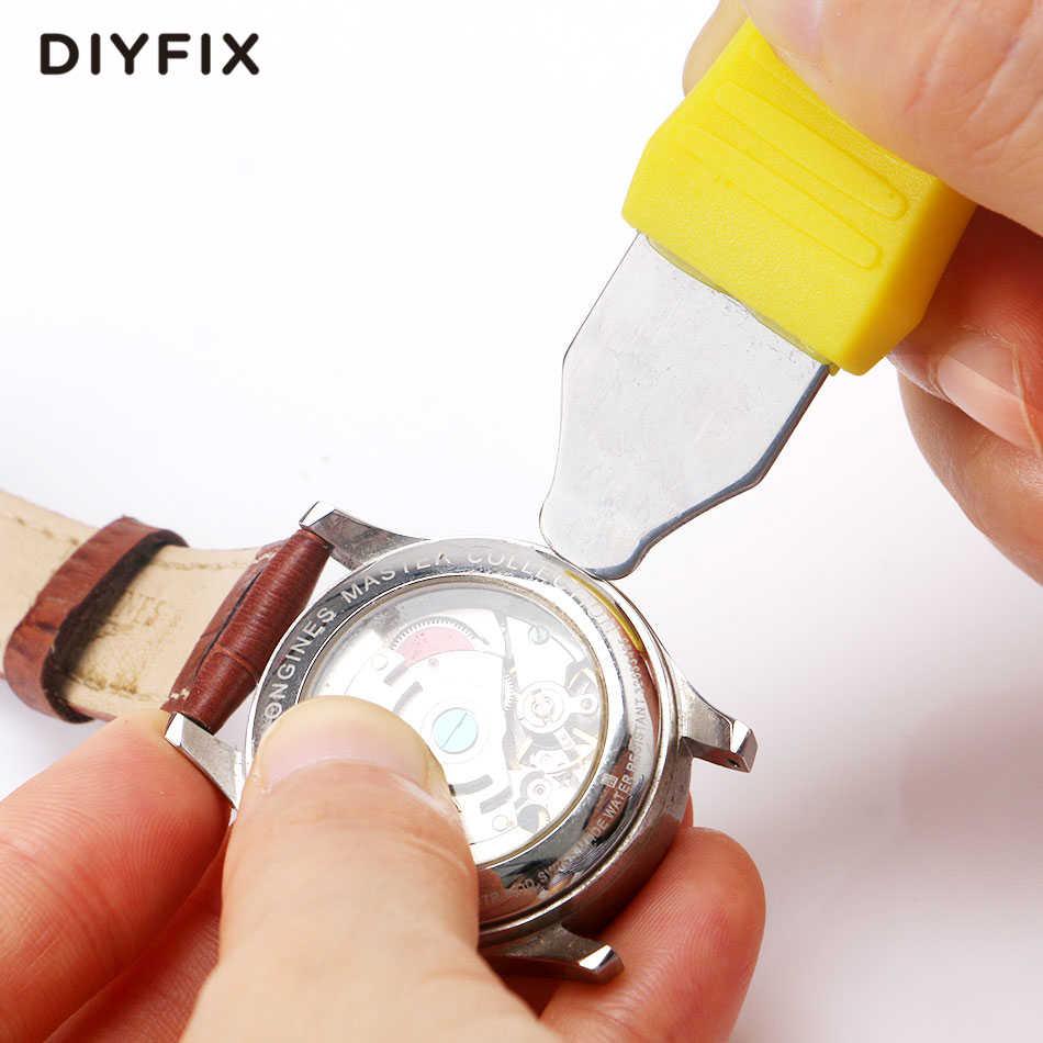 DIYFIX שעון תיקון כלי ערכת שעוני יד חזרה כיסוי מקרה פותחן מסיר סוללה שינוי שען תיקון כלי סט