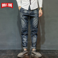 Satış Jeans Erkek Robin Biker Erkek Sıkıntılı Tulum Moda Jean Skinny Tasarımcı Giyim Marka Giyim Ince Tam Uzunlukta Katı