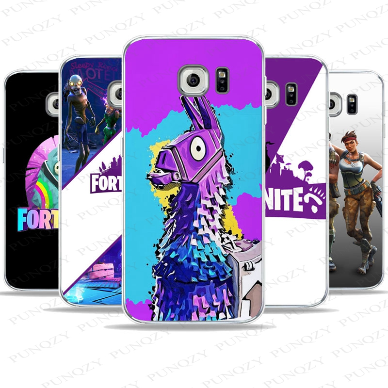official photos 1e991 5036a US $1.89 |PUNQZY Soft TPU Fortnite Clear Phone Case For SamSung Galaxy S6  S7 Edge S8 PLUS S5 mini Game illustration Patterned Case Cover-in Phone ...