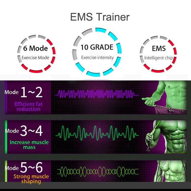 Abdominal Trainer EMS Muscle Stimulator Smart Fitness Hips abs muscle toner Body Massager Slimming Belt Unisex 2
