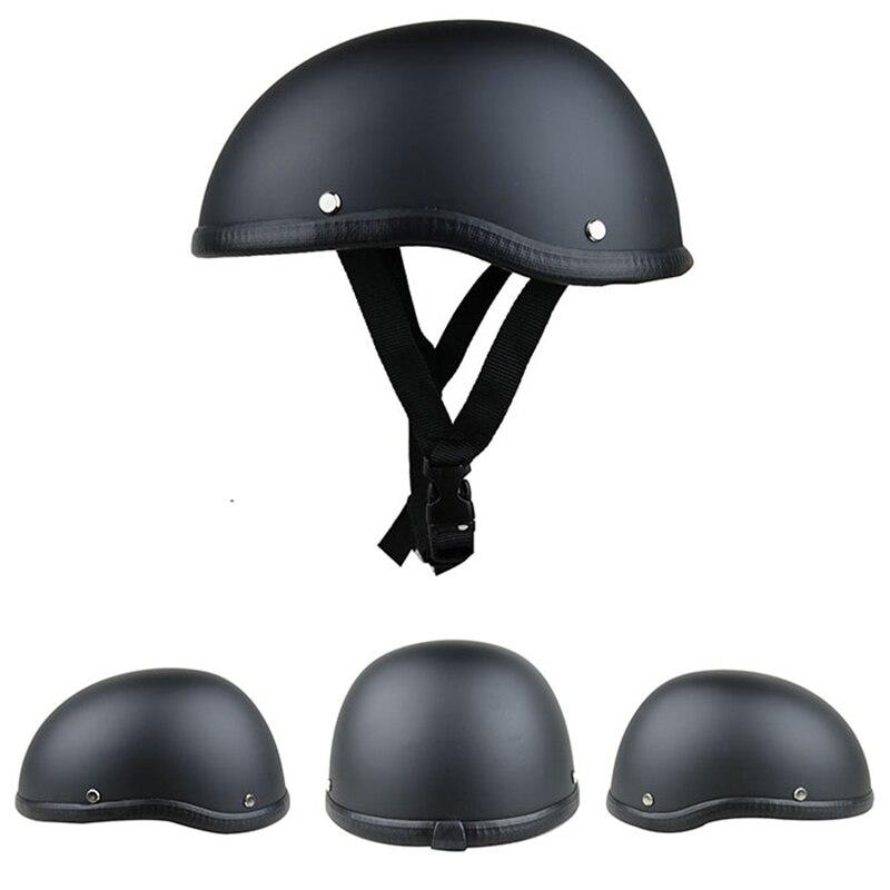 цена на 1Piece 57-62cm ABS Plastic cycling hat Helmet Motorcross cap Capacete Half Helmet for Harley Retro Matte Bright Black