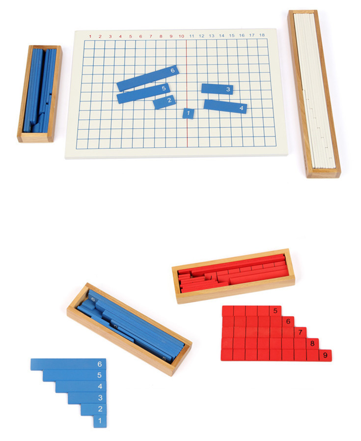 Baby Toys Kids Advance Montessori Subtraction Strip Board Wooden Toys Child Educational Early Development Blocks Child Gift 50pcs hot sale wooden intelligence stick education wooden toys building blocks montessori mathematical gift baby toys