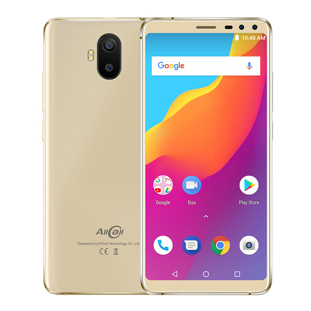 """AllCall S1 5.5"""" 18:9 Mobile Phone 2GB RAM 16GB ROM Android 8.1 MTK6580A Quad Core Four Camera Dual 8MP+2MP 5000mAh Smartphone"""