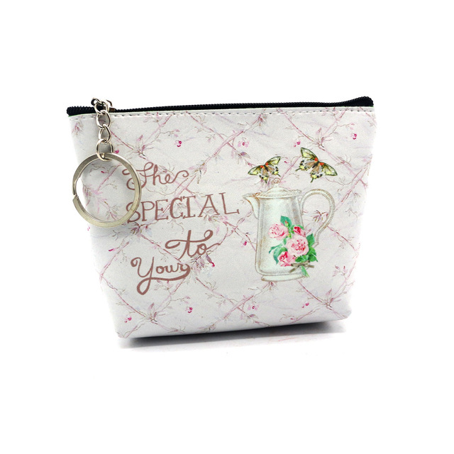 NEW Design Make Up Bag Woman Girl Literary Pattern Coin Purses Colorful Kid Small Bag Zero Wallet For Travel