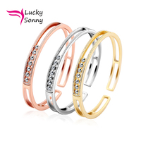 2015 US Hot Sale Top Quality 925 Sterling Silver With Platinum Hollow Moving Cubic Zirconia Fashion