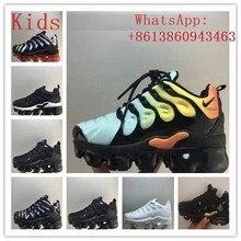 Kids Air Vapormax Plus Tn Plus Olive In Metallic White Silve
