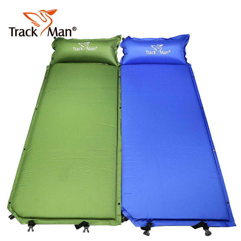 Outdoor Self-Inflating Sleeping Pad with Pillow Camping Tent Mat Travel Moisture-proof Mat - TM2205 mc 7806 digital moisture analyzer price with pin type cotton paper building tobacco moisture meter