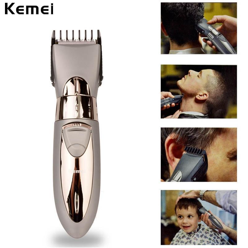 111363fb7 Nova Recarregável Barbeador Aparador de Barba Cabelo Elétrico máquina de Cortar  Cabelo À Prova D' Água Corpo Cabelo Aparador de Corte De Cabelo De Barbear  ...
