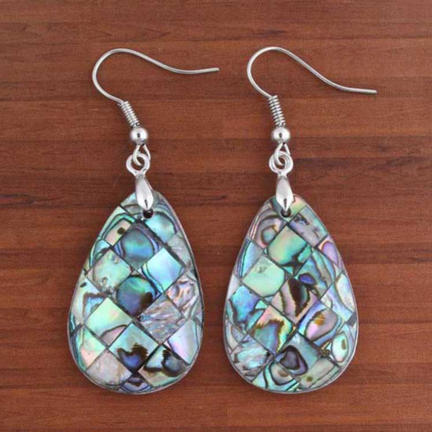 Charms Natural Abalone Shell Shape Hook Dangle Women/'s Ladies Earrings Jewelry