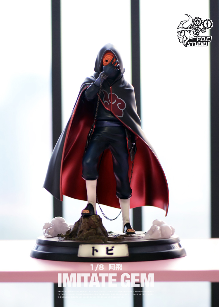 NARUTO Akatsuki Tobi Uchiha Obito Resin GK Statue 1//8 Action Figure New In Stock