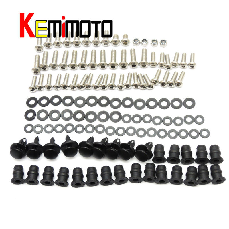 2004 2005 Ninja ZX10R Motorbike Moto Fairing Bolt Screw Fastener Nut Washer For Kawasaki Ninja ZX-10R 2004 2005