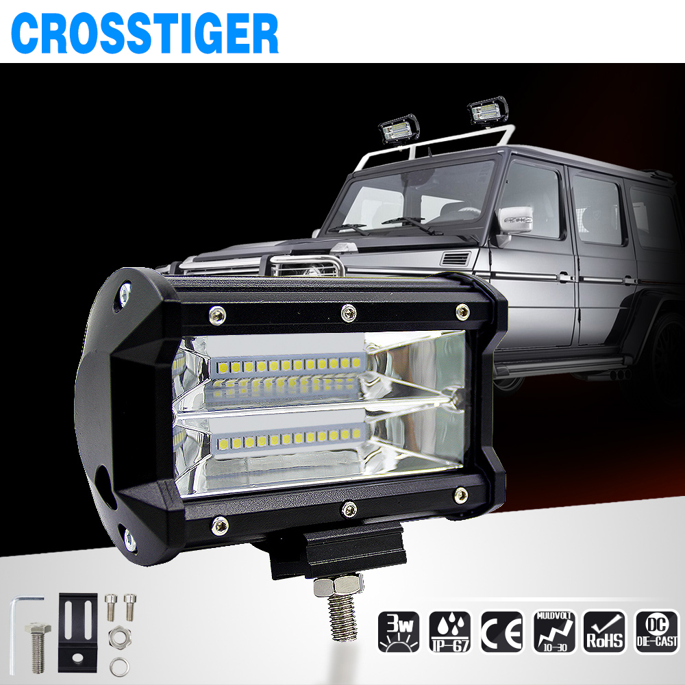 2017 New 5 inch 72W Car Barra Led Work Light Bar Offroad Motorcycle Foglights Spotlight For Boats ATV UTV SUV Jeep Truck