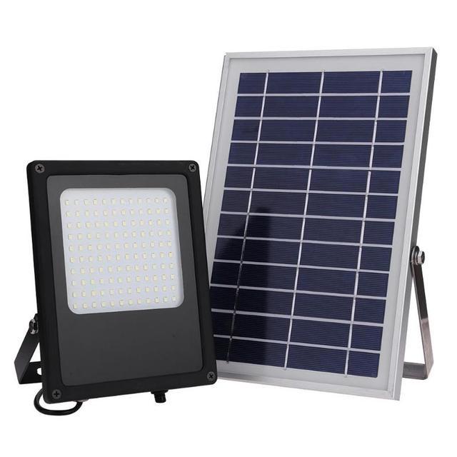 50w 120 Led Solar Light Sensor Flood Spot Lamp Ip65 Waterproof Outdoor Garden Emergency