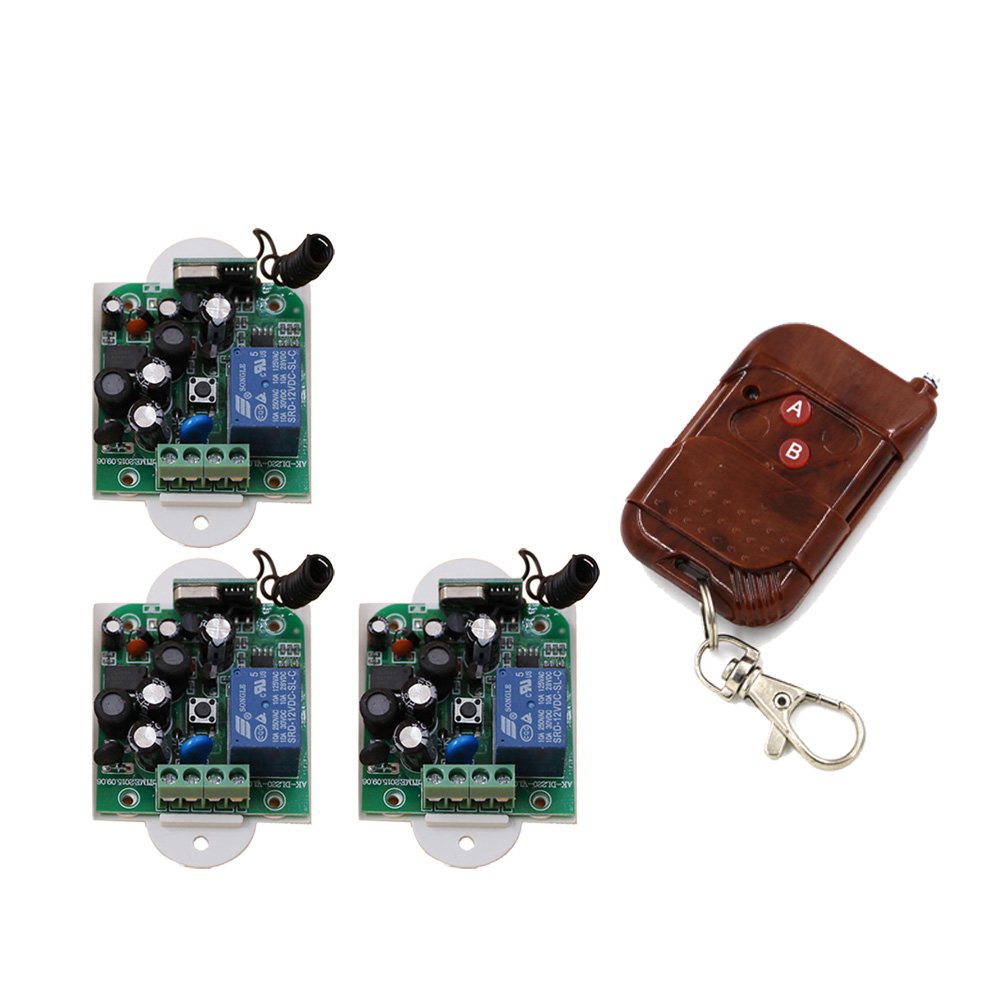 AC 85V~250V Wireless Remote Control Switch Radio Controller 1CH 1 CH Relay Receiver 2 Button Transmitter 315/433Mhz 85v 250v remote relay control switch 8ch receiver