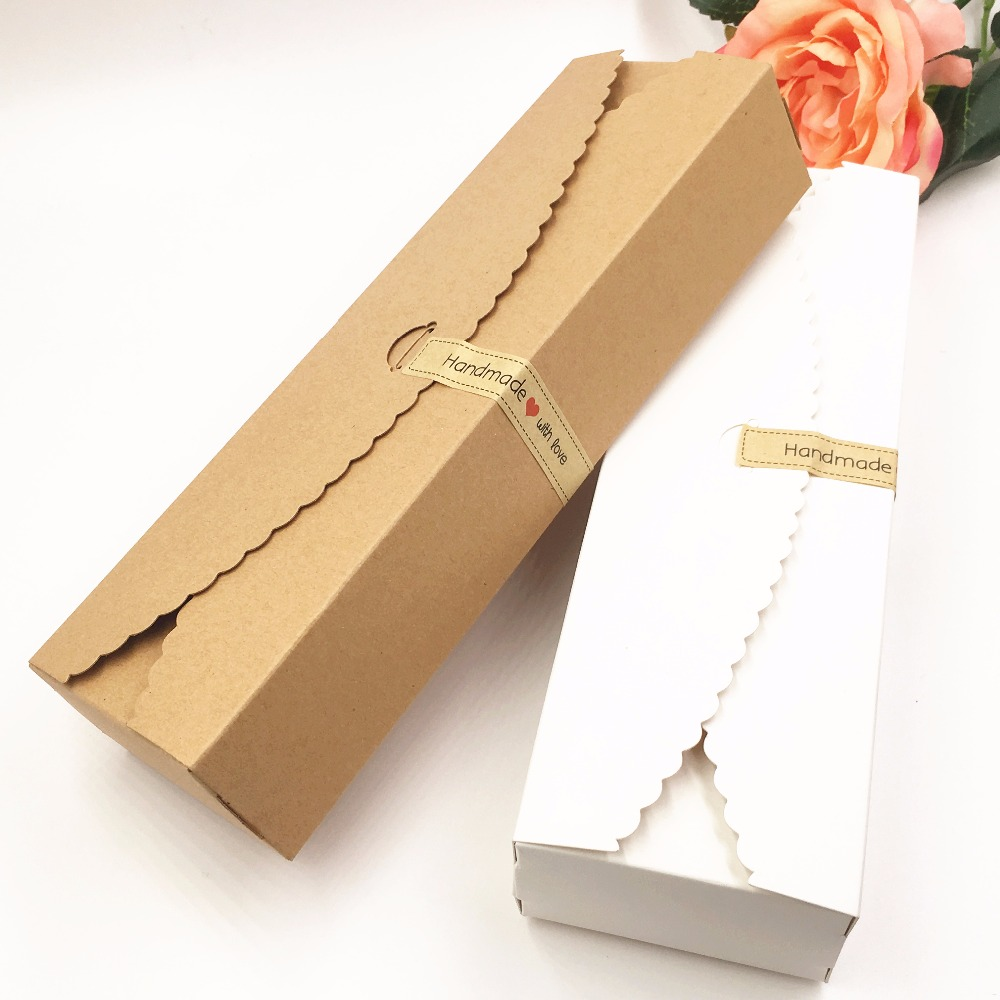 50pcs 23*7*4cm Kraft Gift Boxes HM Candy Boxes Blank Storage Box Packing Paper Boxes For Jewelry/Gifts/Craft/Candy/Book/toys