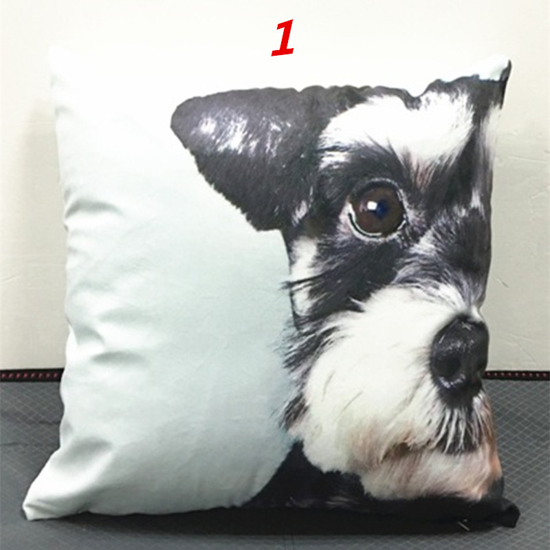 Maiyubo Animal Cushion Cover Dog Children Decorative Cushion Cover for Sofa Throw Pillow Car Chair Pillow Case Almofadas PC232 standard schnauzer