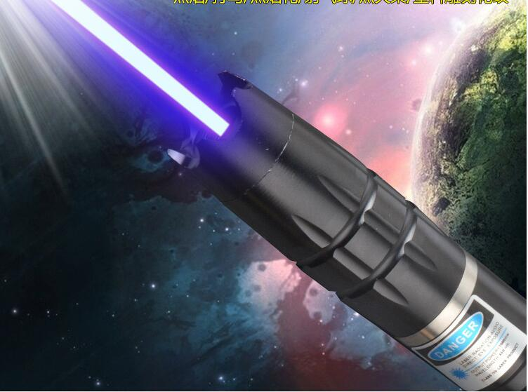 Most Powerful blue laser pointer 500000m 500w 450nm Flashlight burning match dry wood black burn cigarettes wicked Lazer Hunting in Lasers from Sports Entertainment