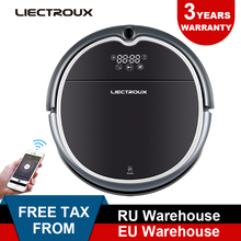 (FBA)LIECTROUX Robot Vacuum Cleaner Q8000, WiFi,Wet Dry Mop,Map Navigation,Smart Memory,UV Sterilize,Suction3KPa,Brushless Motor цена и фото