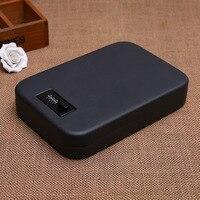Portable Car Safe Box Handgun Money Cash Jewelry Storage Box Security Strongbox Steel Box Open By