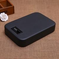 Portable Car Safe Box Handgun Money Cash Jewelry Storage Box Security Strongbox Steel Box Open by Password / Key