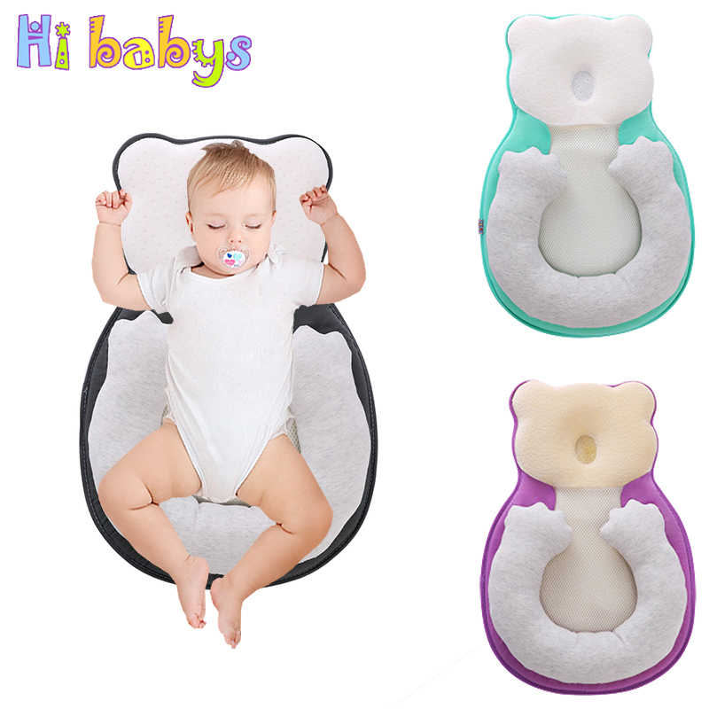 Head Syndrome Prevention by Funky Planet Breathable Memory Foam Pillow Head Shaping Pillow for Newborn Baby Pillow