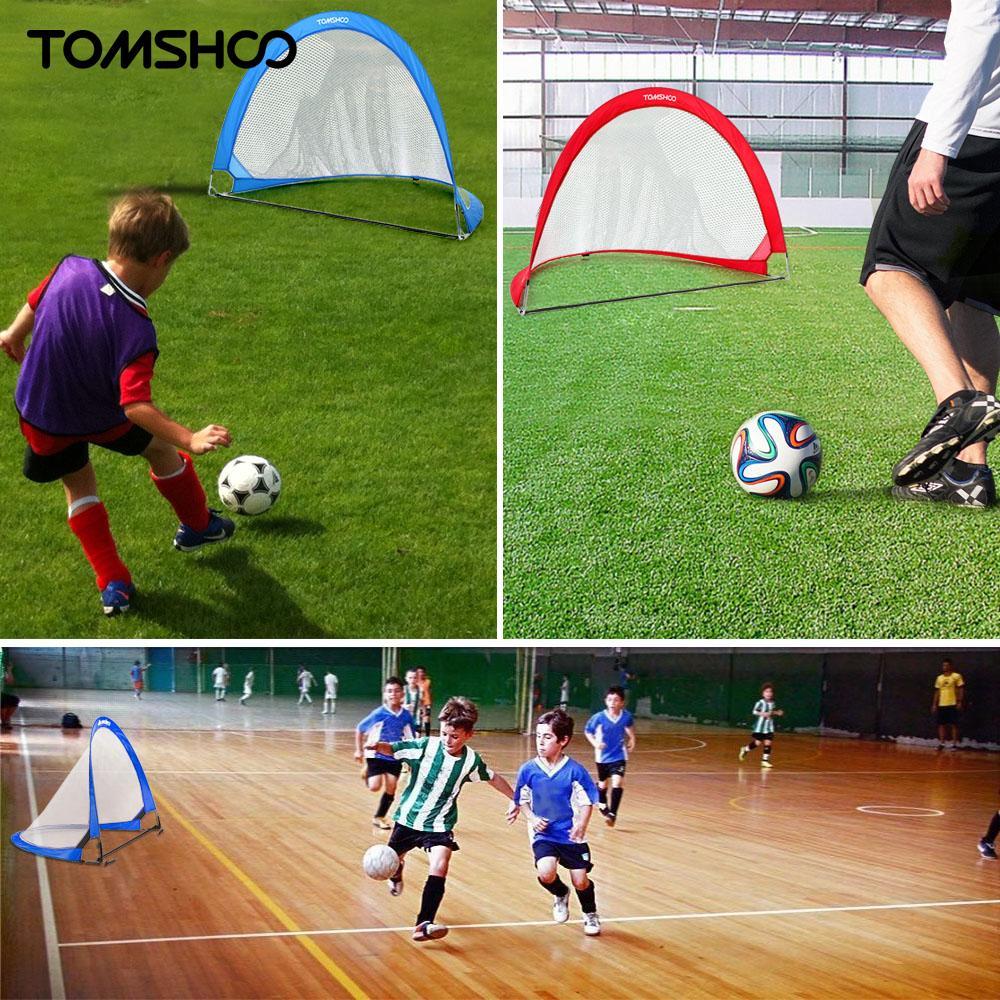 aliexpress com buy tomshoo 2pcs pop up soccer goal portable
