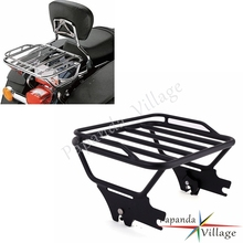 Papanda Motorcycle Black Detachable Two-Up Passenger Luggage Rack for Harley Electra Glide Road King FLHT FLHX FLTR 1997-2008
