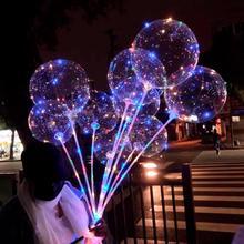 Huiran Luminous Led Balloon Continuous Flashing Constantly Bright Light Latex Happy Birthday Balon