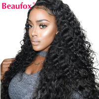 Lace Front Human Hair Wigs Brazilian Deep Wave Wig Pre Plucked Lace Wig With Baby Hair