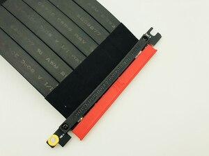 Image 4 - Cabo extensor flexível pci express 3.0 16x, alta velocidade, pc, placas gráficas, conector, cabo 23cm pcie riser