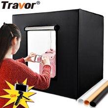 Софтбокс Travor 80*80 см 31,5 дюйма с регулируемой яркостью для фотостудии, световой тент + адаптер переменного тока + фоны для камеры телефона, DSLR, ювелирные изделия