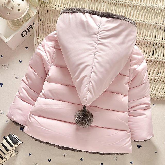 High quality 2016 new winter clothes kids outerwear baby girls parkas fashion Snow Wear babys Hoodies clothing hot sale