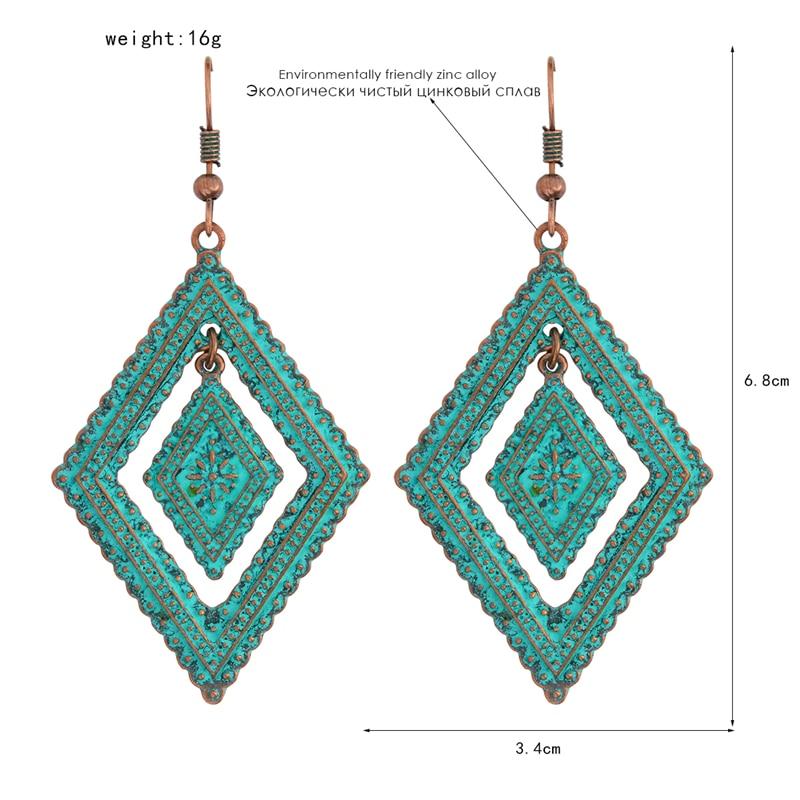 2018 AliExpress jewelery geometric self-drilling earrings - suitable for female jewelry earrings for female jewelry wholesale