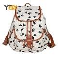 Y-FLY 2016 Moda Impressão Mochila Mochila de Lona das Mulheres Sacolas Sacos de Escola para Meninas Das Mulheres Do Vintage Viajar Sacos Mochila Bolsas FQ3441