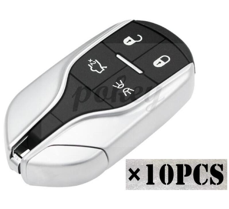 10 pcs/LOT pour Maserati 4 boutons de haute qualité Smart kless entrée télécommande clé coque Fob